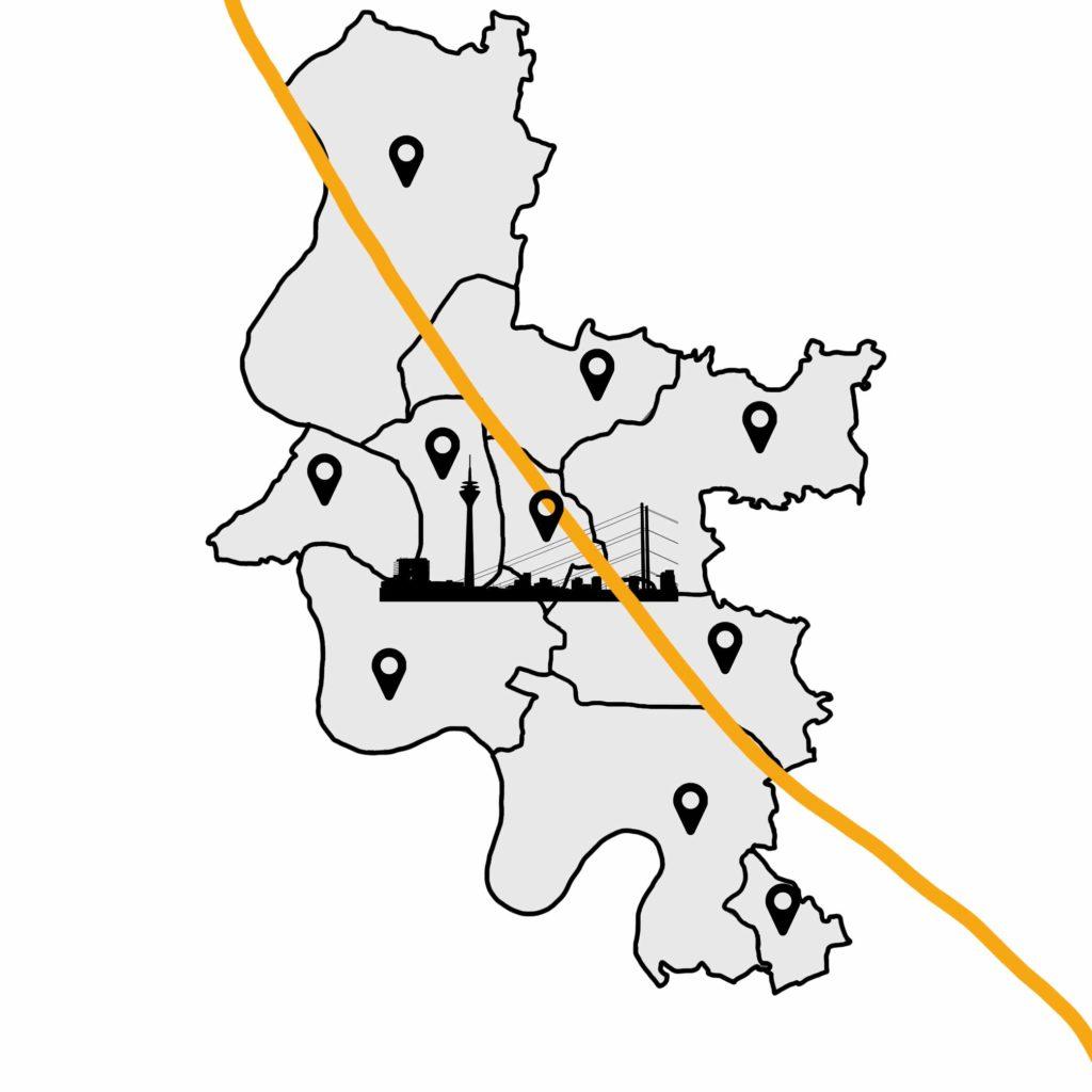 Düsseldorf Stadtkarte
